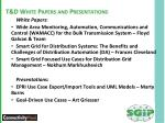 t d white papers and presentations