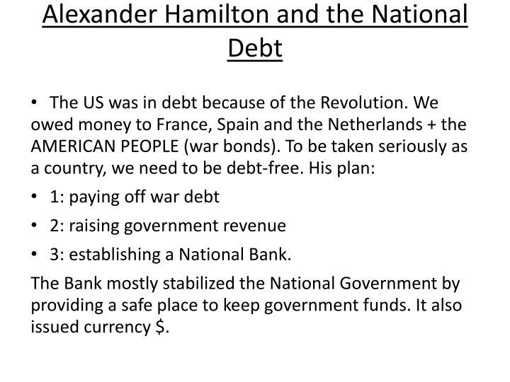 Alexander Hamilton and the National Debt