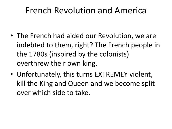 French Revolution and America