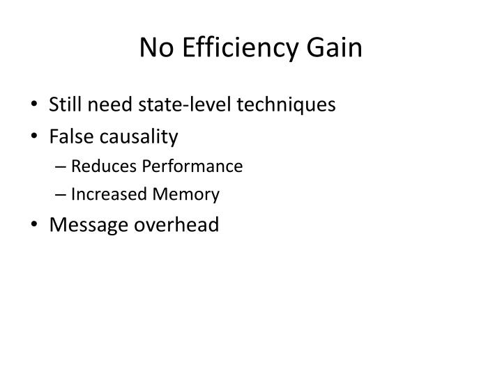 No Efficiency Gain