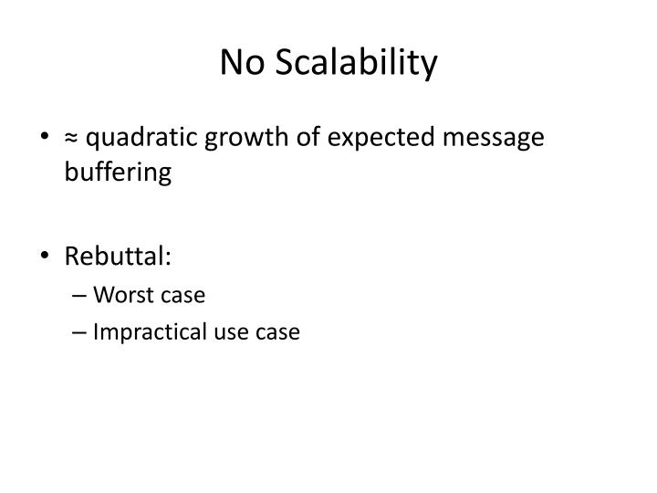 No Scalability