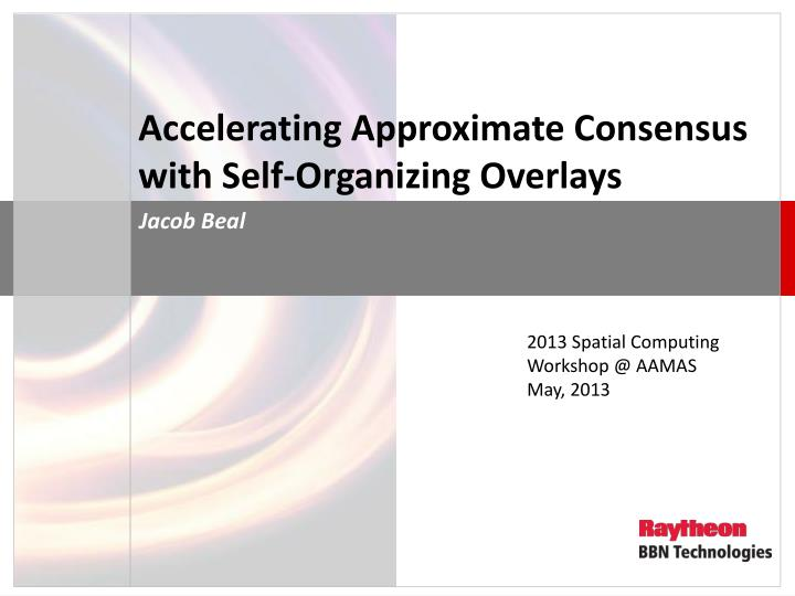 Accelerating Approximate Consensus with Self-Organizing Overlays