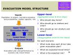 evacuation model structure
