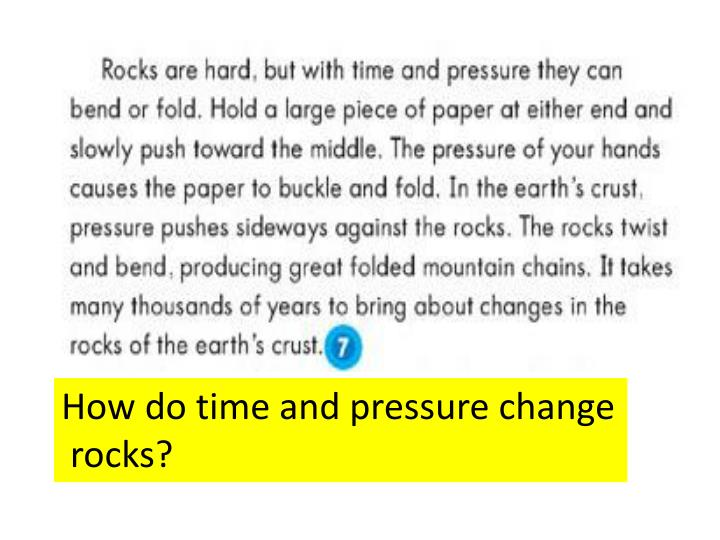 How do time and pressure change
