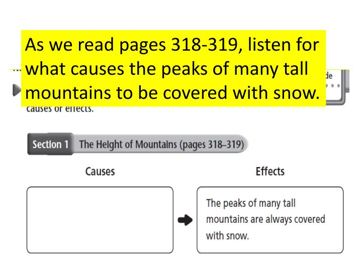 As we read pages 318-319, listen for