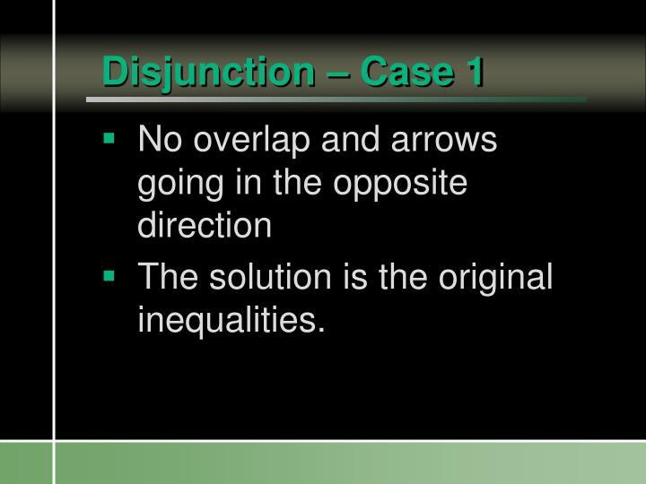 Disjunction – Case 1