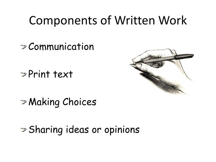 Components of Written Work