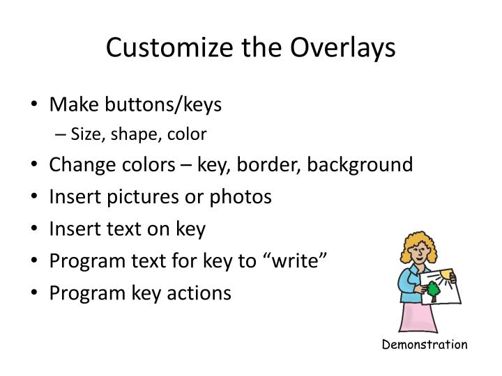 Customize the Overlays