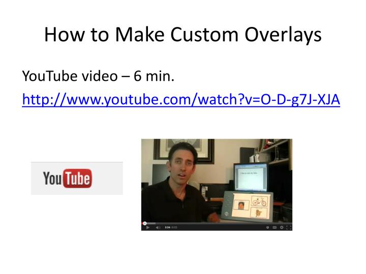 How to Make Custom Overlays