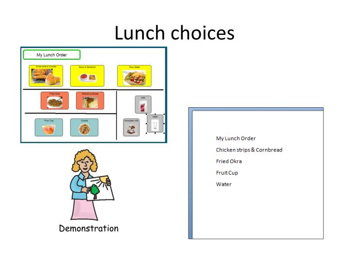 Lunch choices