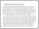 reflective essay cont1