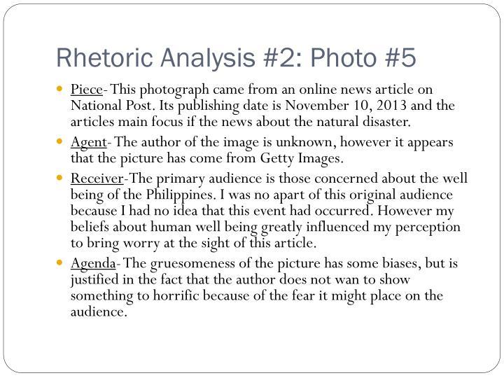 Rhetoric Analysis #2: Photo #5