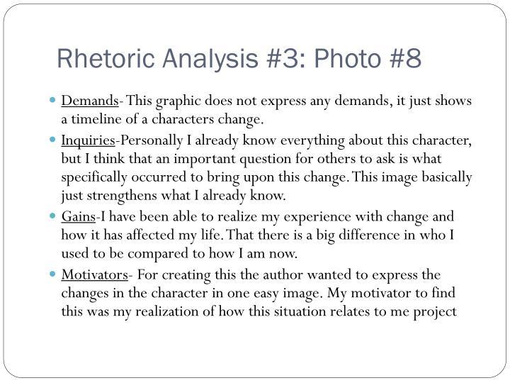 Rhetoric Analysis #3: Photo #8