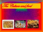 the culture and food