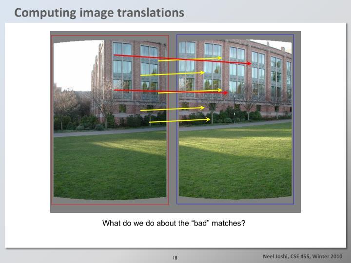 Computing image translations