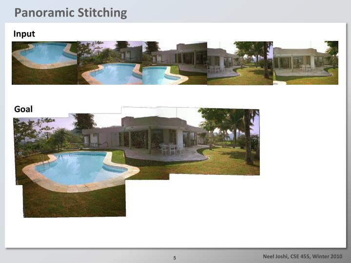 Panoramic Stitching