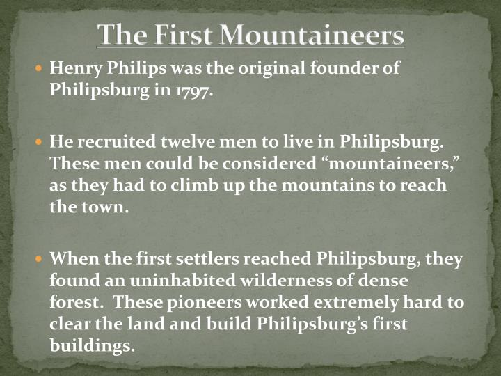 The first mountaineers
