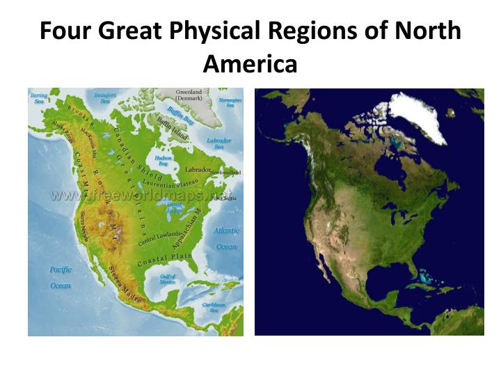 Four Great Physical Regions of North America