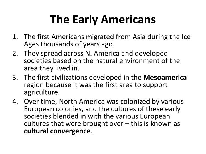 The Early Americans