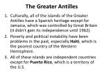 the greater antilles
