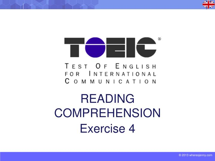 Reading comprehension exercise 4