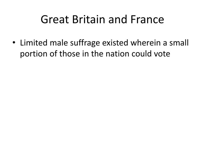Great Britain and France