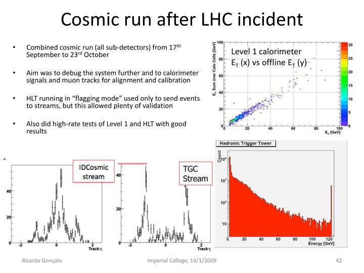 Cosmic run after LHC incident