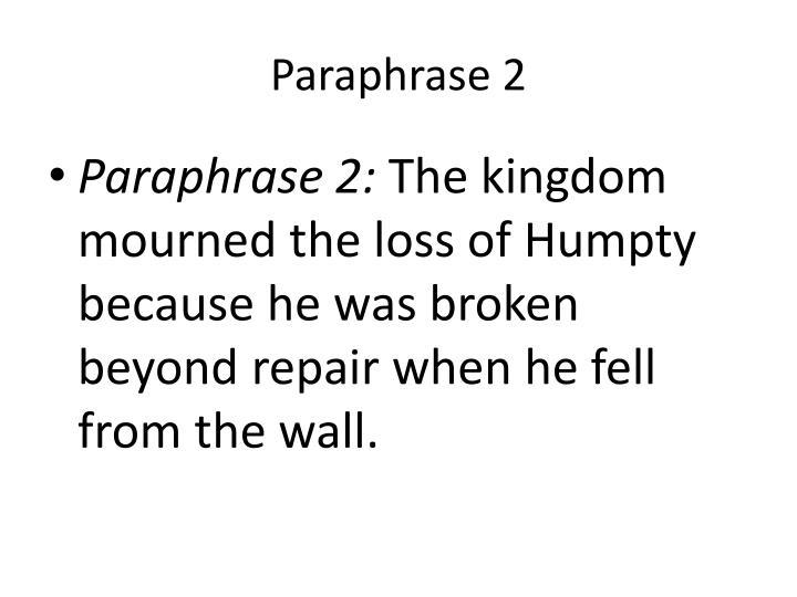 Paraphrase 2