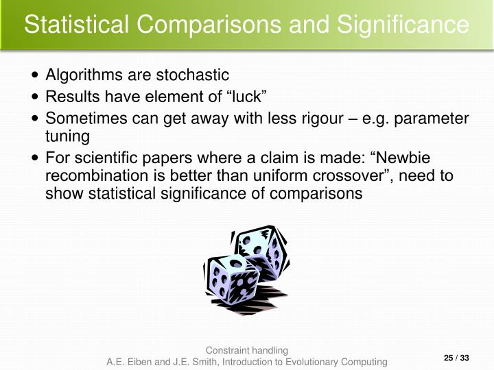 Statistical Comparisons and Significance