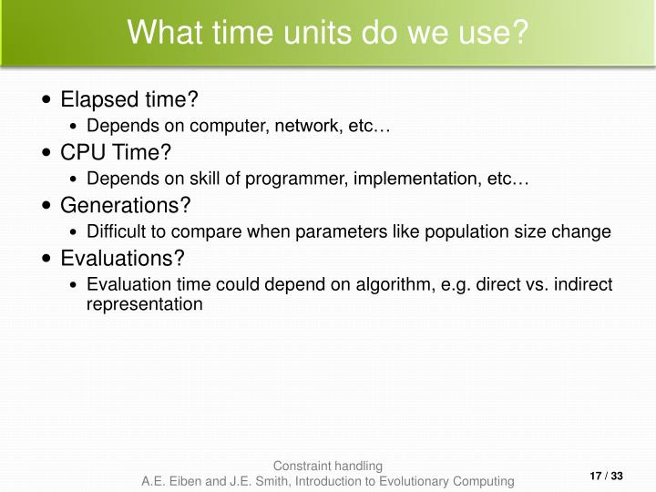What time units do we use?