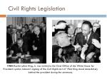 civil rights legislation