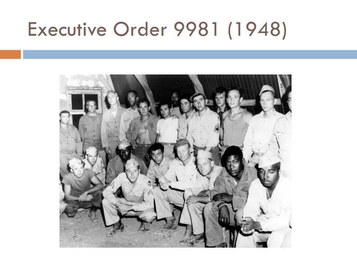 Executive Order 9981 (1948)