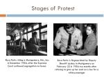 stages of protest