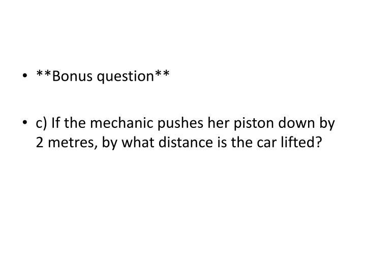 **Bonus question