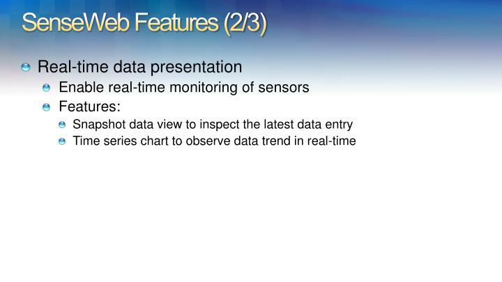 SenseWeb Features (2/3)