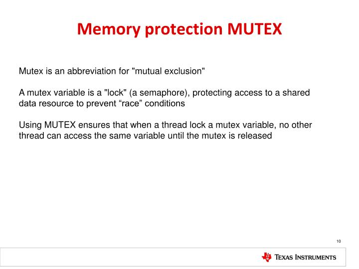 """Mutex is an abbreviation for """"mutual exclusion"""""""