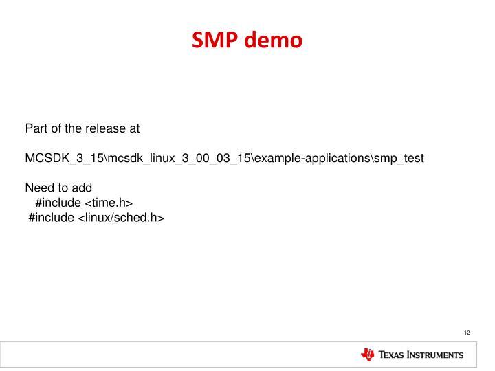 SMP demo