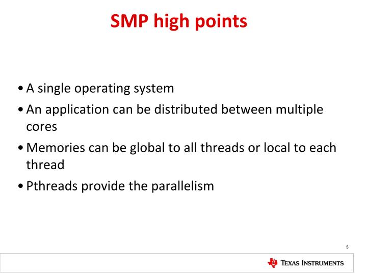 SMP high points