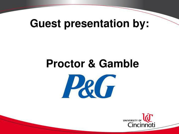 Guest presentation by: