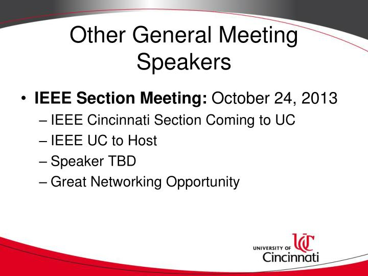 Other General Meeting Speakers