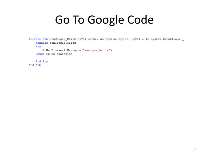 Go To Google Code