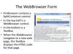 the webbrowser form