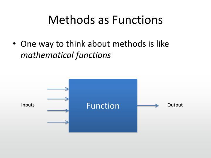 Methods as Functions
