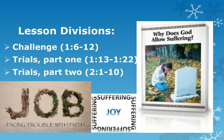 Lesson Divisions: