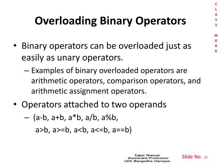 Overloading Binary