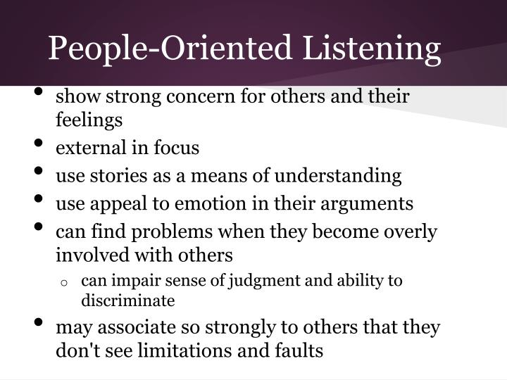 People-Oriented Listening