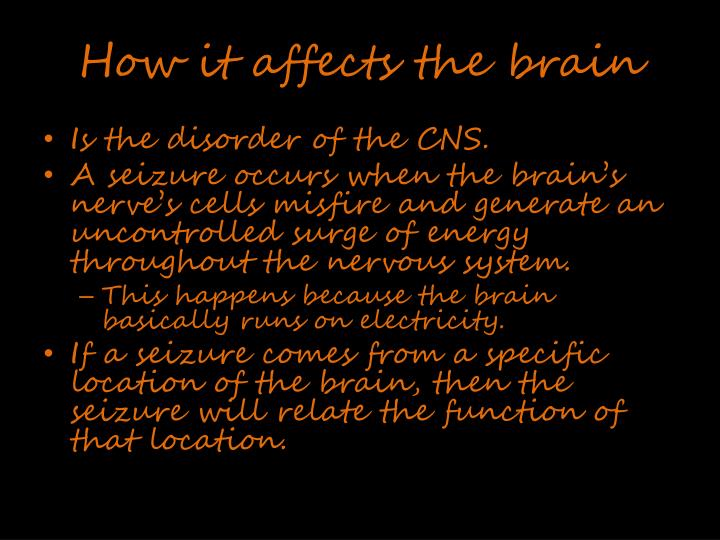 How it affects the brain
