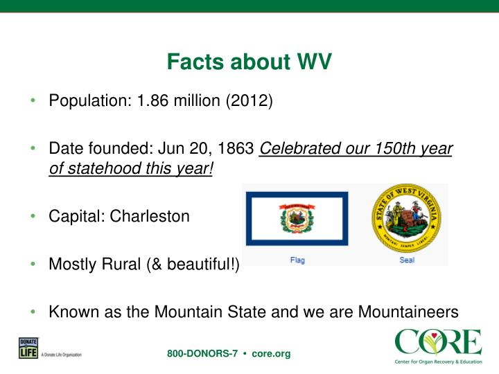 Facts about WV