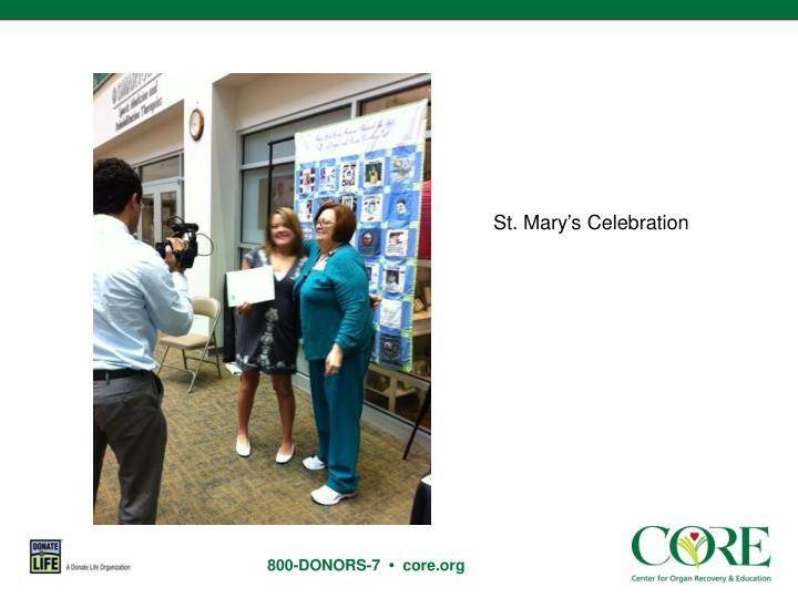 St. Mary's Celebration