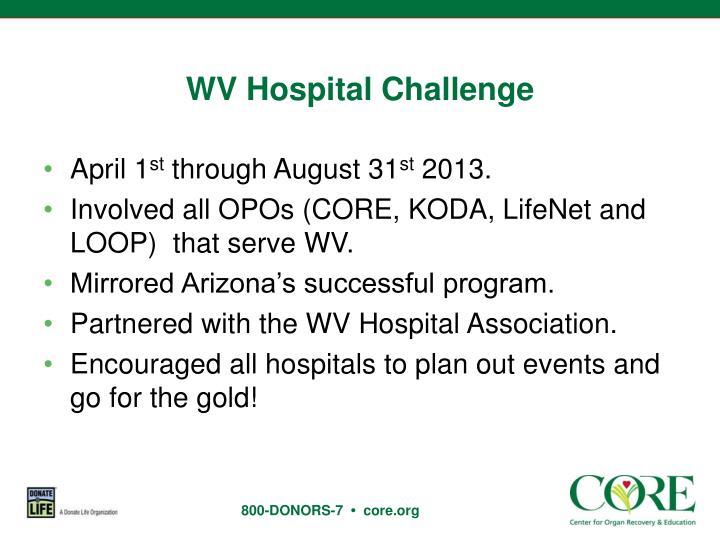 WV Hospital Challenge